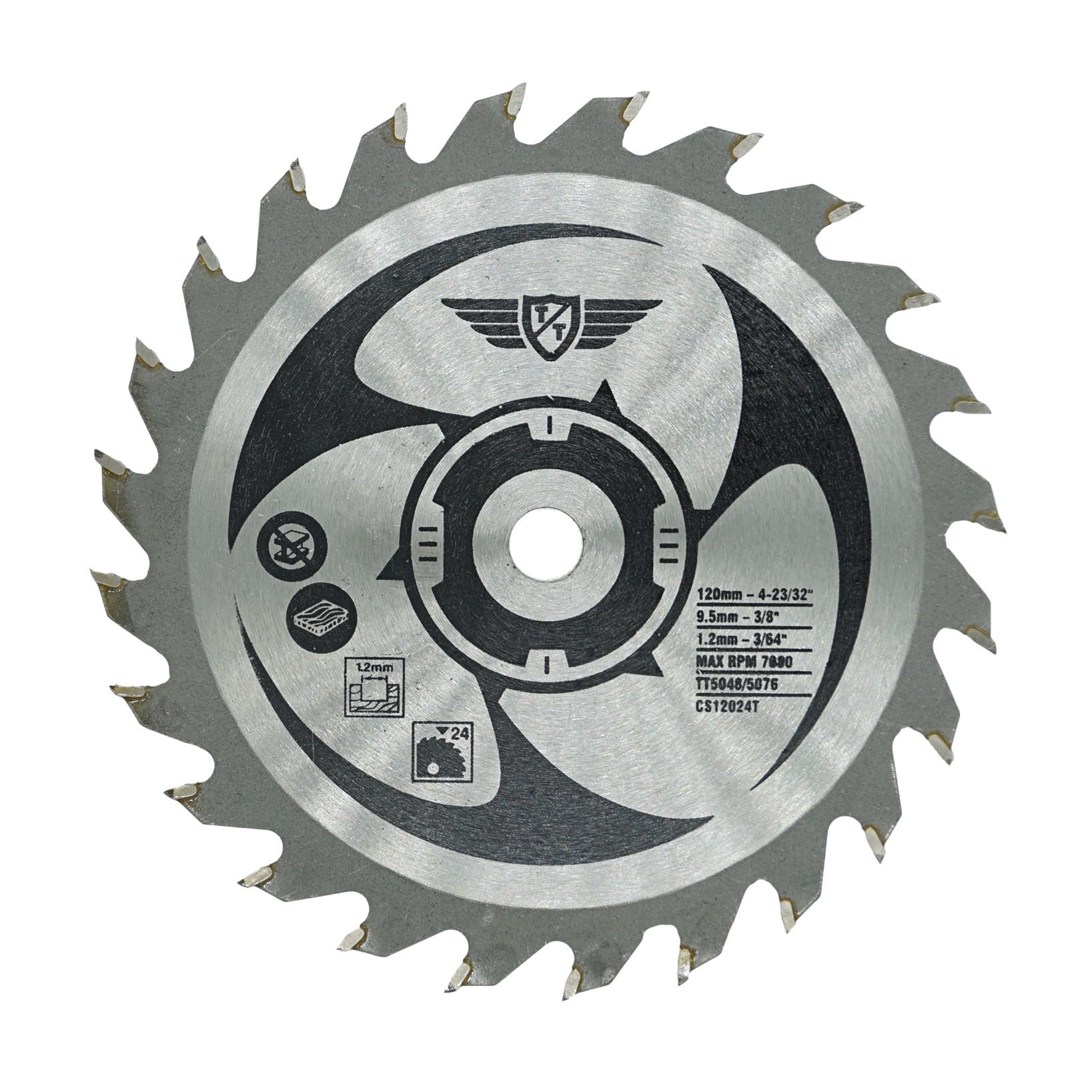 1 x Topstools CS12024T 120mm 24T 9.5mm Bore TCT Saw Blades for Worx WorxSaw XL W