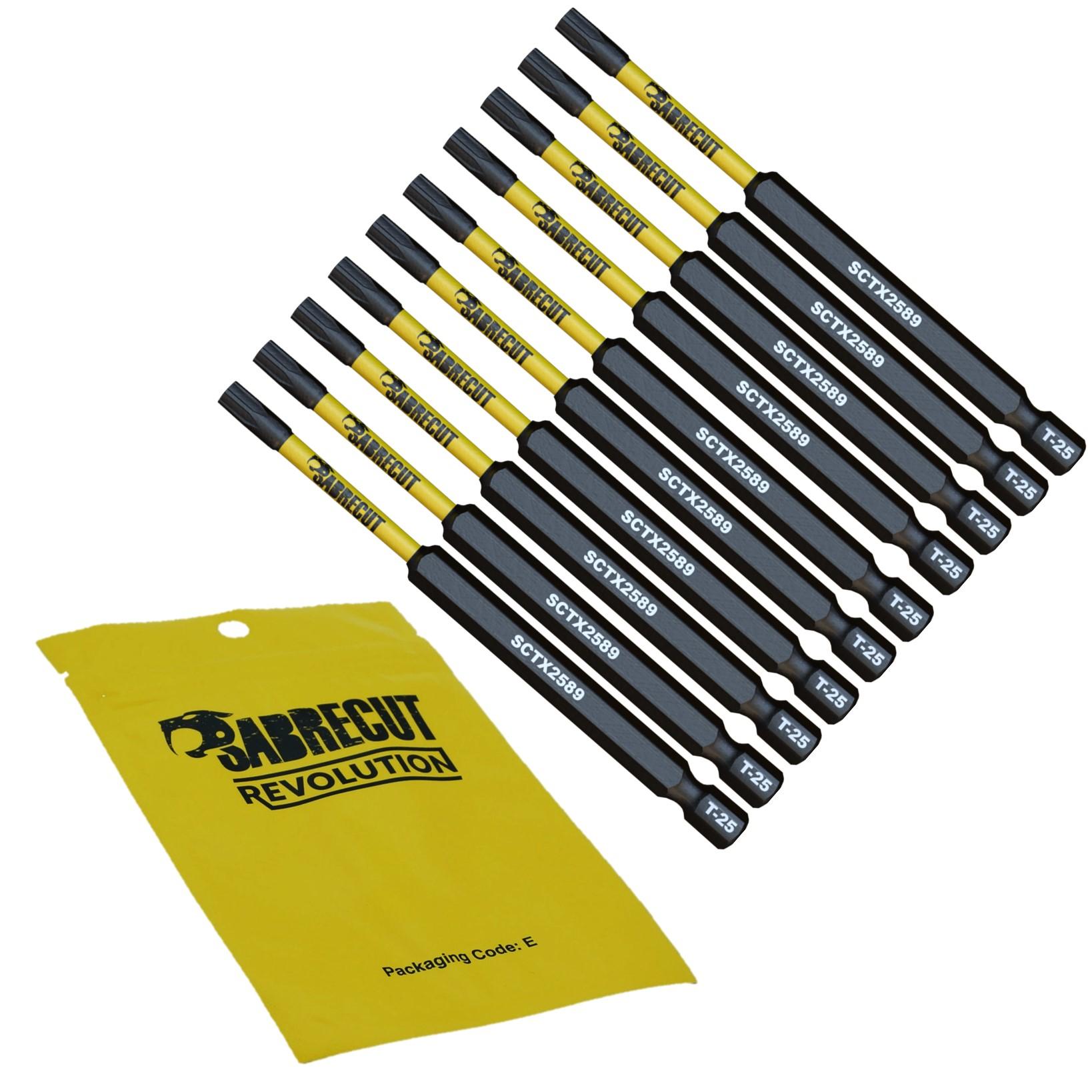 SabreCut-Mixed-Impact-Screwdriver-Bits-89mm-PZ2-PH2-Torx-Milwaukee-DeWalt thumbnail 20