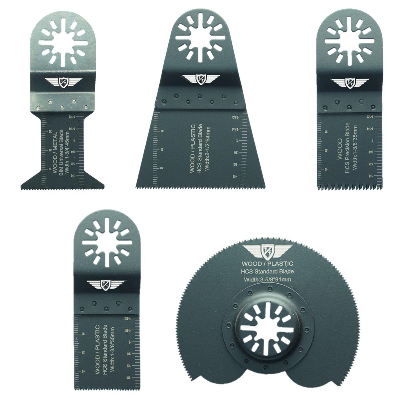 5 x Mix lames Pour Fein Bosch Makita Milwaukee Makita AEG outils multifonction Multi Outil